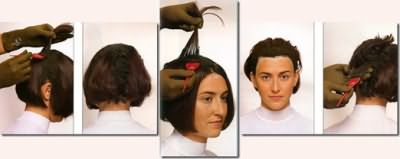 Процесс окрашивания очень прост: вначале суспензию наносим на корни, а затем распределяем на оставшиеся волосы.