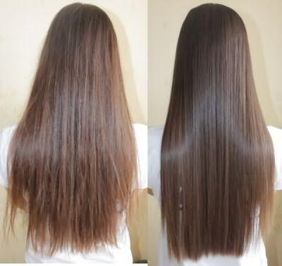 Кератиновое выпрямление волос. Фото до и после.