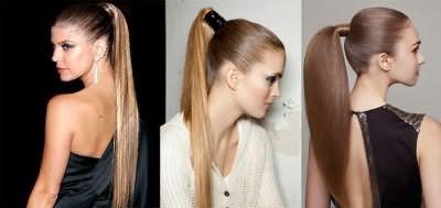 Эффектный хвост на волосах средней длины