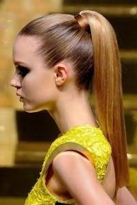 Новогодняя прическа высокий хвост для тонких волос