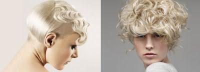 Женственные волны на коротких волосах