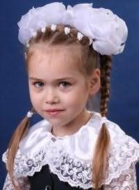 Детская прическа с бантами