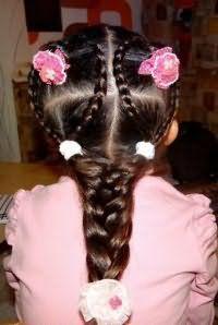 Прическа с косами на 1 сентября