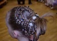 Модный вариант прически для длинных волос