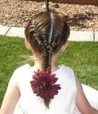 Вариант прически с плетением для длинных волос