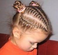 Оригинальная прическа с косами для средних волос