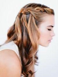 Коса водопад на длинные волосы.