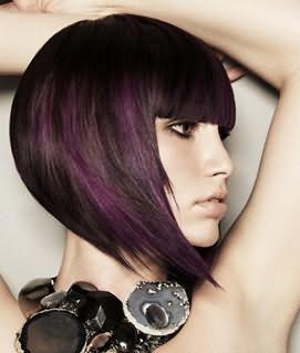 Градуированное каре на средние волосы