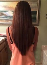 стрижка лисий хвост на длинные волосы 3
