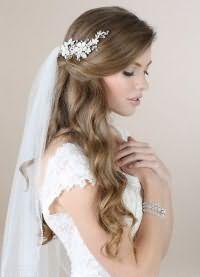 свадебные прически на длинные волосы с фатой1