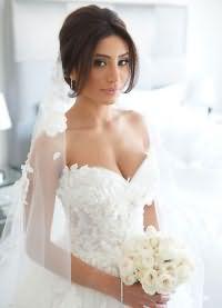 свадебные прически на длинные волосы с фатой4