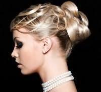 Свадебная прическа пучок на средние волосы.