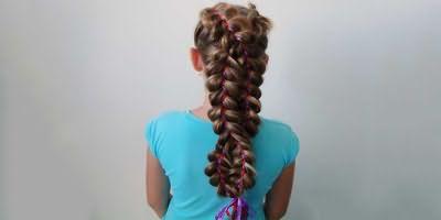 Коса-восьмерка для девочки в школу