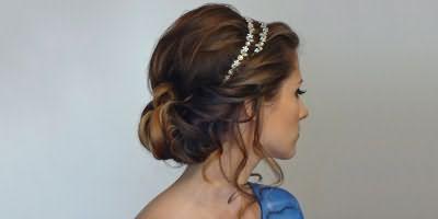 Греческая укладка для длинных волос
