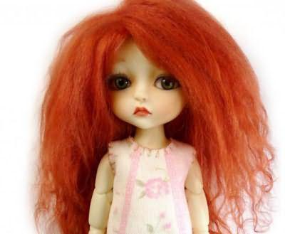 как пришить кукле волосы