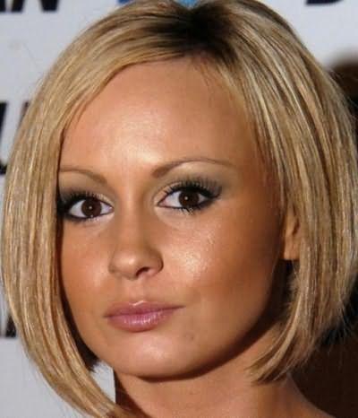 Округлость лица не является помехой для стрижки без челки