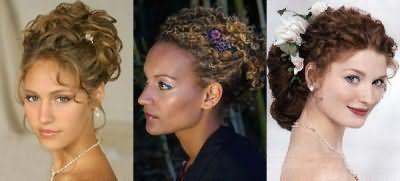 Великолепны свадебные прически: кудри на длинные волосы.