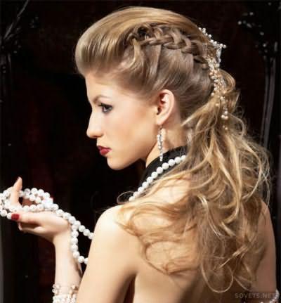 Торжественная прическа с косами