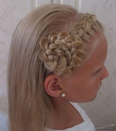 Детская прическа для длинных волос