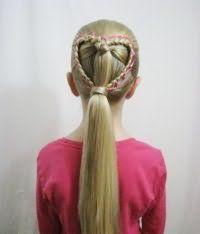 Стильная коса в виде сердца
