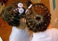 школьные прически для девочек на длинные волосы 7