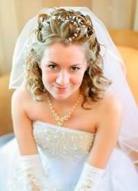 свадебные прически на средние волосы 2016 1