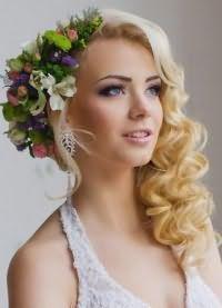 свадебные прически на средние волосы 2016 8
