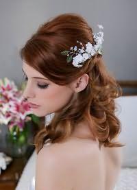 свадебные прически на средние волосы 2016 9