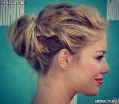 прически знаменитостей на средние волосы