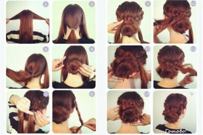 Для создания прически старайтесь подбирать резинки и шпильки в цвет волос
