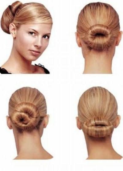 Способы, как накрутить бублик на волосы.