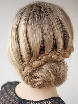 как делать шишку с бубликом на короткие волосы