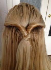Быстрые прически на средний волос 8