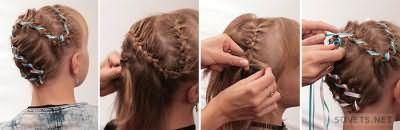 Косички на короткие волосы: пошаговая инструкция с фото