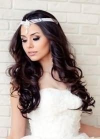 свадебные прически распущенные 3
