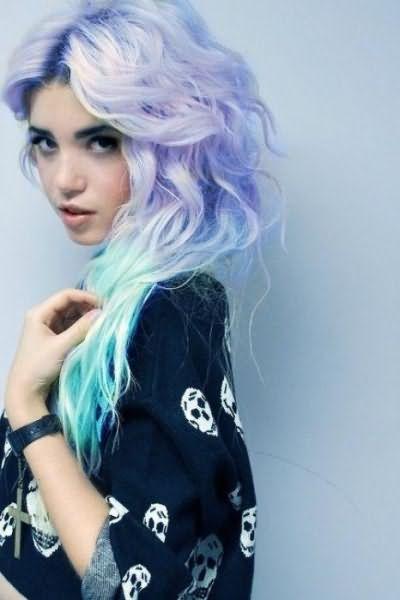 разноцветные волосы фото