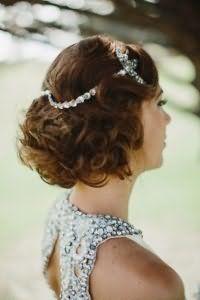 Ретро прическа волны для коротких волос на свадьбу.