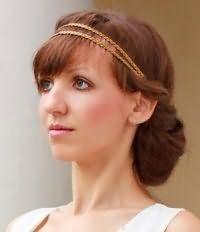 Свадебная прическа в стиле ретро на длинные волосы.