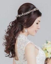 Ретро прическа для невесты с длинными волосами.