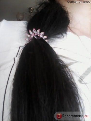 на волосах