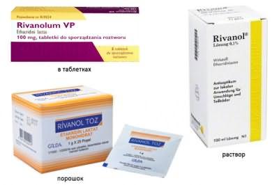 Формы выпуска и цена Риванола