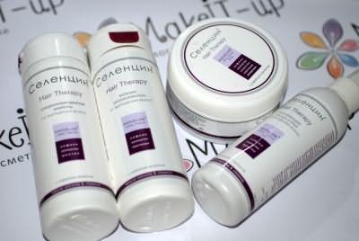 Продукция Селенцин для восстановления и укрепления волос