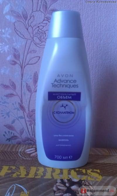 Шампунь Avon Максимальный объем для тонких волос с коллагеном фото