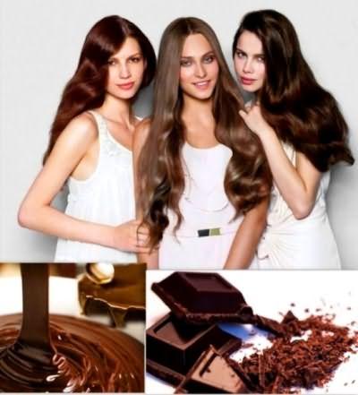 От количества добавленного молока к шоколаду меняется его цвет, тоже самое касается и красок для волос – оттенки меняются от светлых к более темным