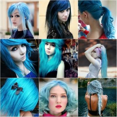 Потрясающие голубые оттенки придадут вашему образу индивидуальность