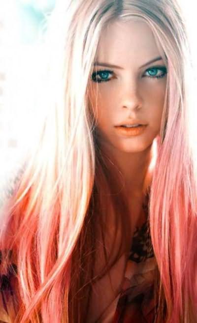 кончики волос покрасить