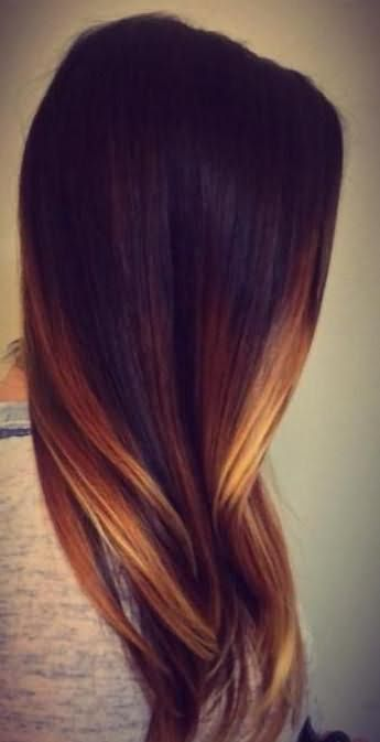красивое окрашивание на длинные волосы
