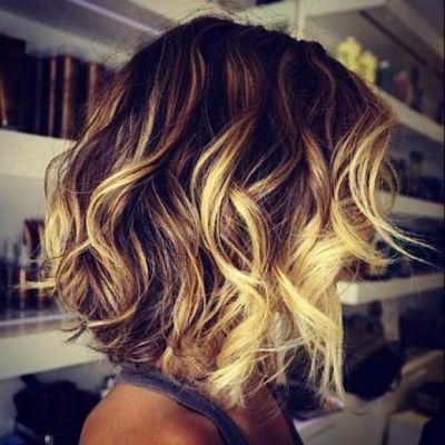 красивое окрашивание темных волос