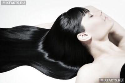 Смывка волос черного цвета