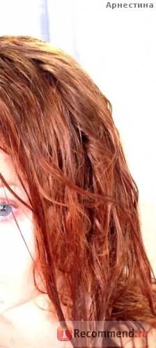 мокрые волосы после смывки раствора